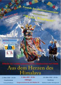 Aus dem Herzen des Himalaya, Maskentänze live und eine Bilderreise durch Himalayländer . . .